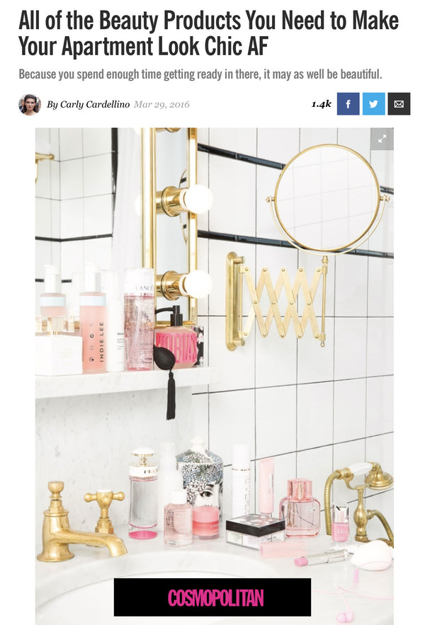 COSMOPOLITAN - All of the Beauty Products You Need to Make Your Apartment Look Chic AF