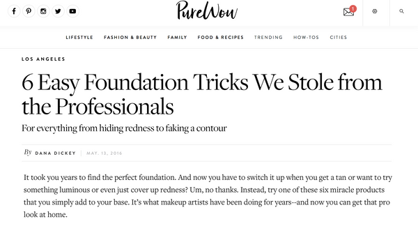 PUREWOW: 6 Easy Foundation Tricks We Stole from the Professionals
