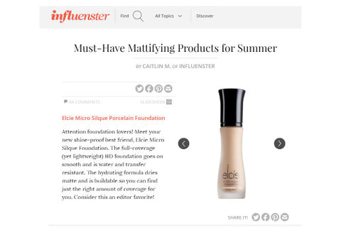 INFLUENSTER - Must-Have Mattifying Products for Summer