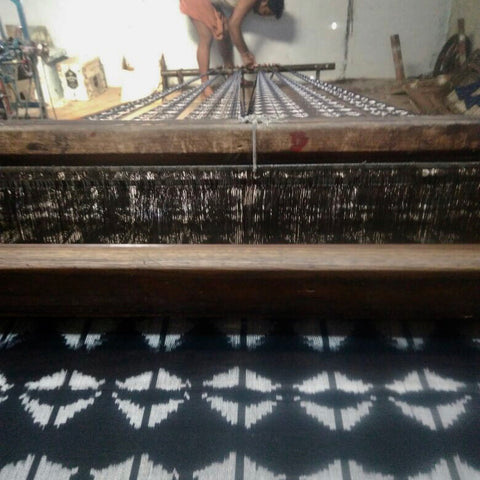 Artisan Ikat Weaving Process- Ethically Made Home Decor and Fashion