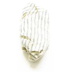 White Zebra Stripe Wrap Woven Ikat Baby Swaddle