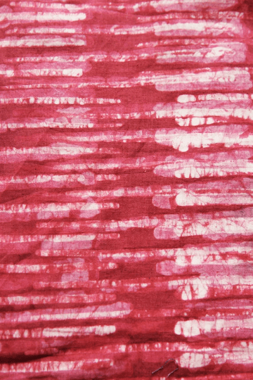 Decorative Throw Pillow Red Stripe Handprinted Batik Block Print