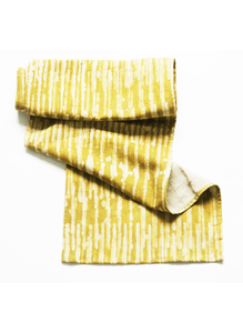 Maize Yellow Gold Stripe Linen Table Runner