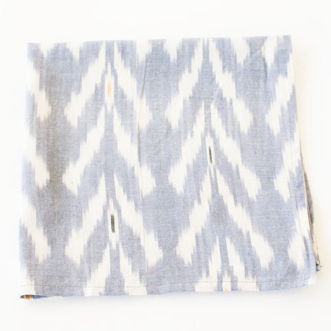 Periwinkle Blue Tulip Pattern Ikat Cloth Dinner Napkin Set of 4