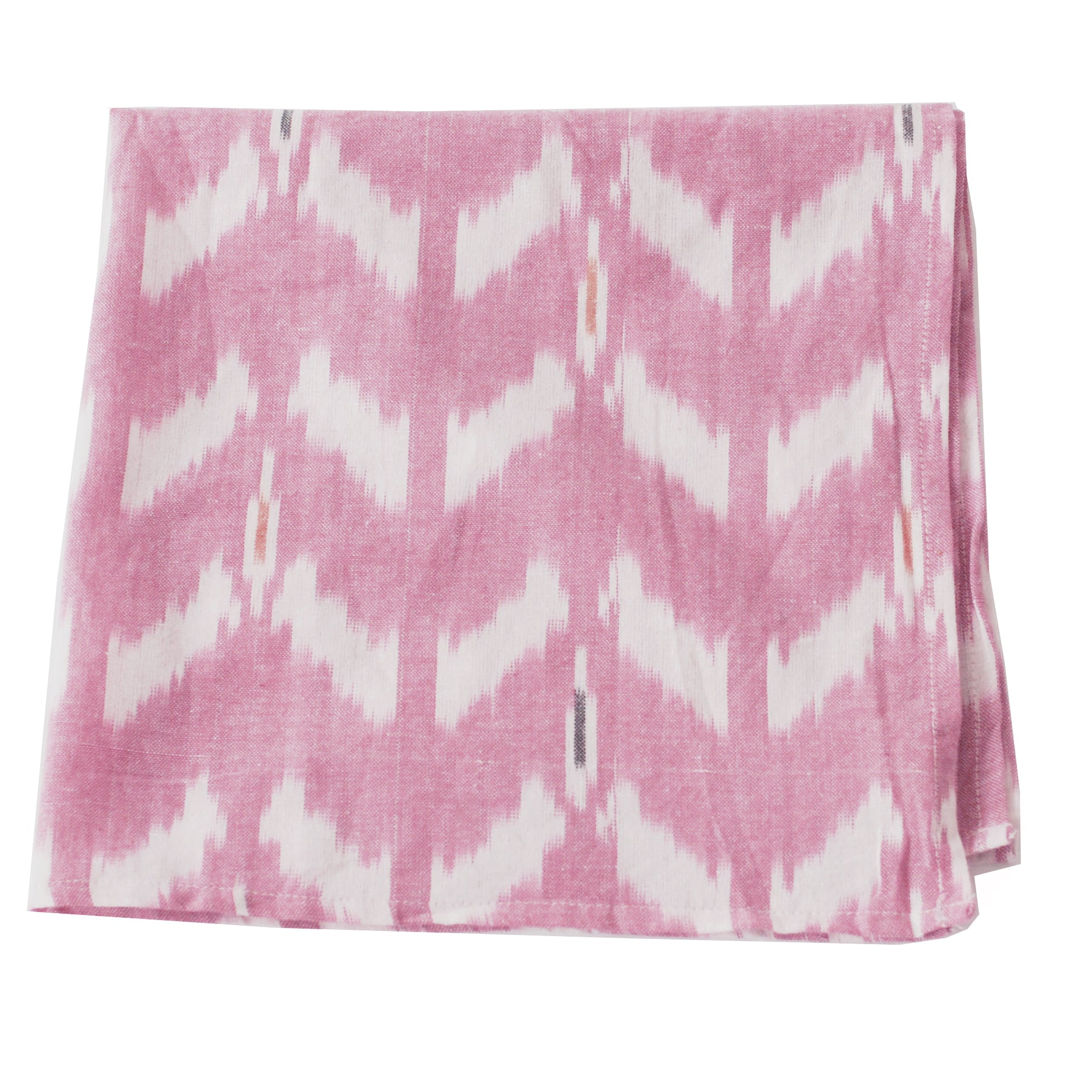 Rose Wine Tulip Pattern Ikat Cloth Dinner Napkin Set