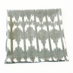 Grey Ikat Triangle Cloth Dinner Napkin Set of 4