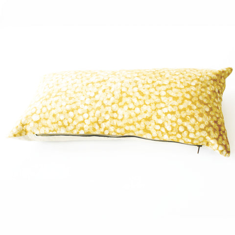 Gold Maize Dot Lumbar Toss Pillow