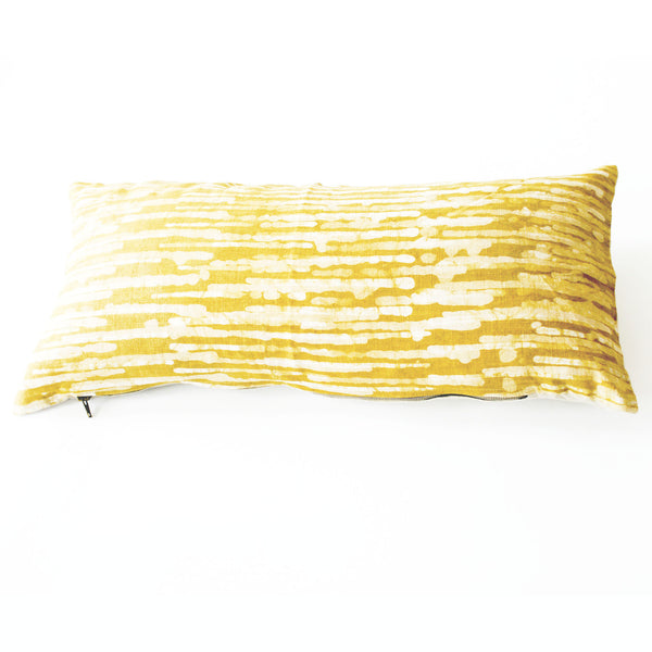 Gold Maize Thin Stripe Lumbar Toss Pillow