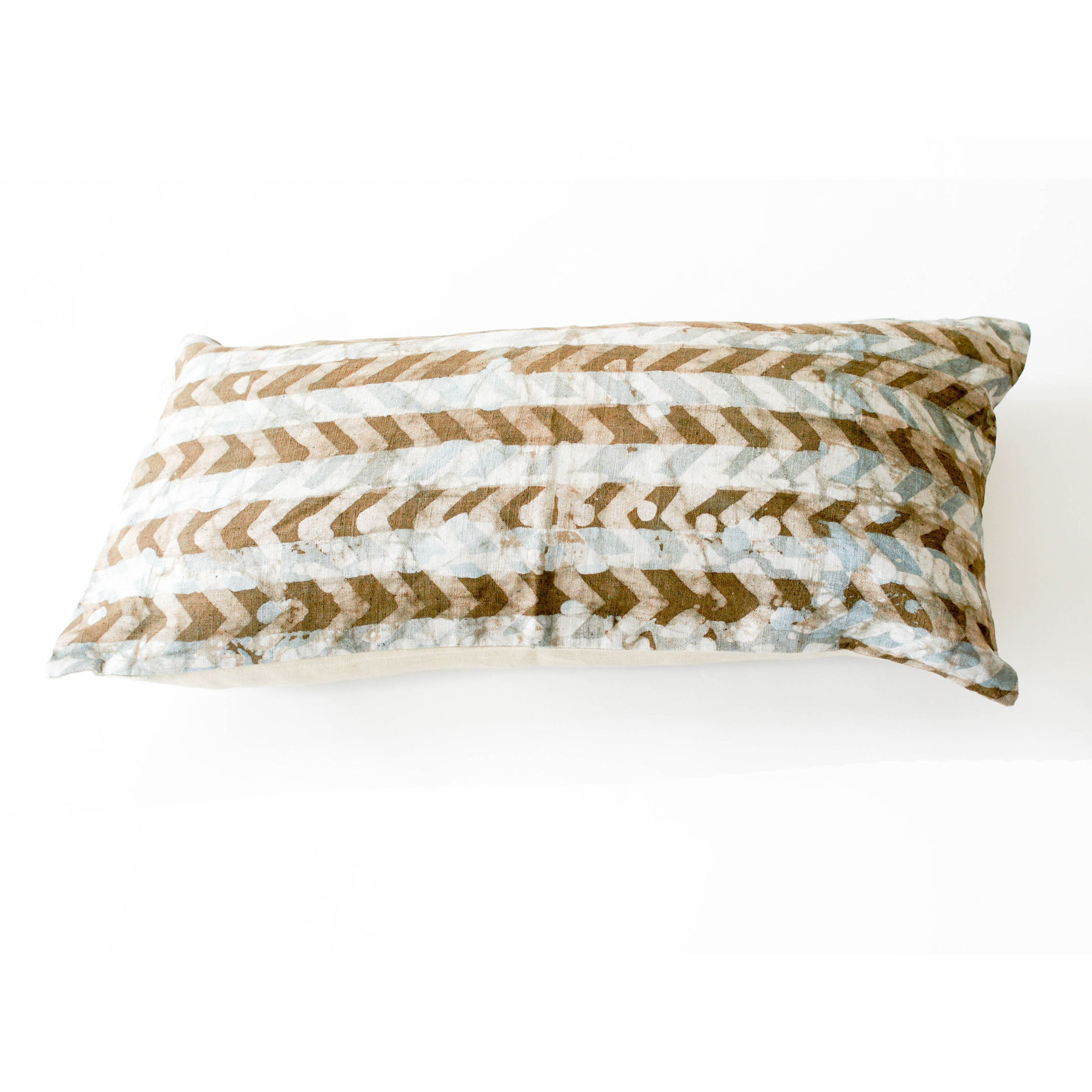 Brown Chevron Lumbar Toss Pillow