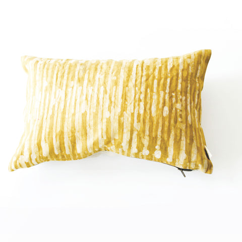 Linen Pillow Cover Maize Thin Stripe