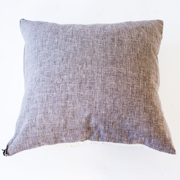 Grey Back Ikat Cotton Ikat Throw Pillow 22 x 22