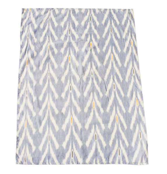 Periwinkle Blue Tulip Cotton Ikat Woven Tea Towel