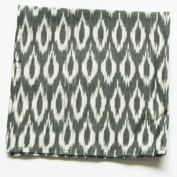 Grey Oval Dinner Napkins Set of 4