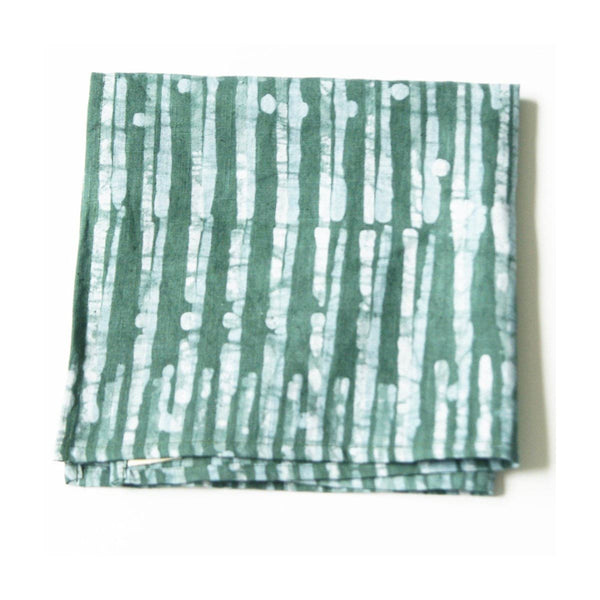 Linen Cloth Teal Green Blue Thin Stripe Napkin Set of 4