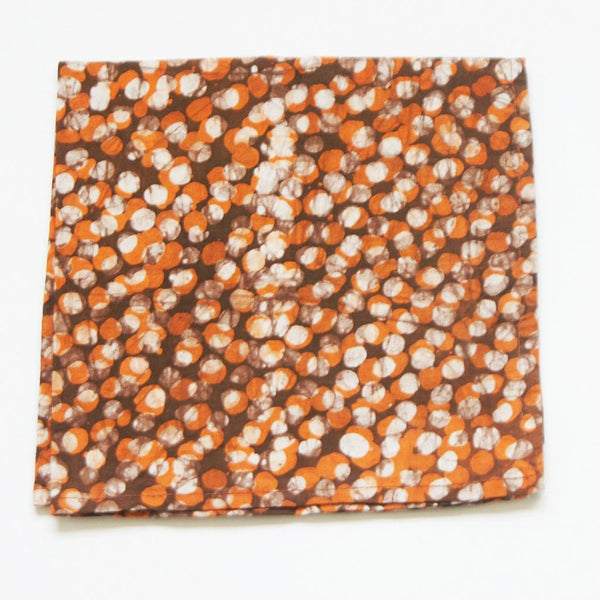 Cotton Table Napkins Orange Dot Batik Block Printed Set of 4