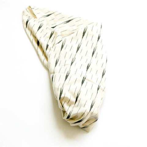 White Arrow Stripe Handwoven Cotton Ikat Baby Swaddle Wrap