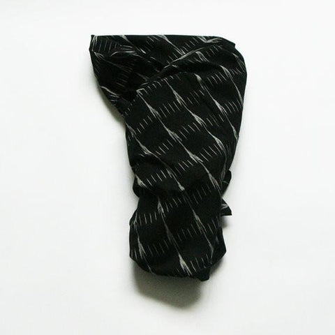 Black Grey Arrow Stripe Artisan Woven Cotton Baby Swaddle