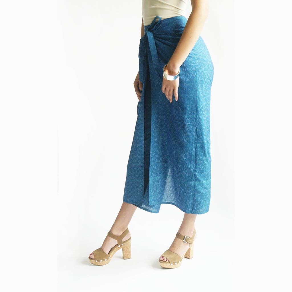 Beigey Peach Grey Natural White Blue WIde Leg Cotton - Pants - Rustic Loom