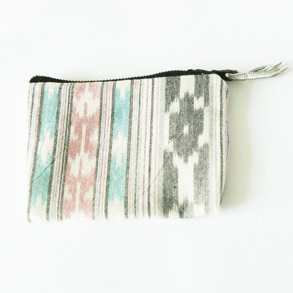 Ikat Zipper Pouch Coin Purse - Wallet