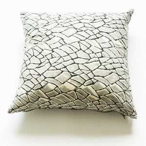 Grey Branch Cotton Blockprinted Pillow 20 x 20