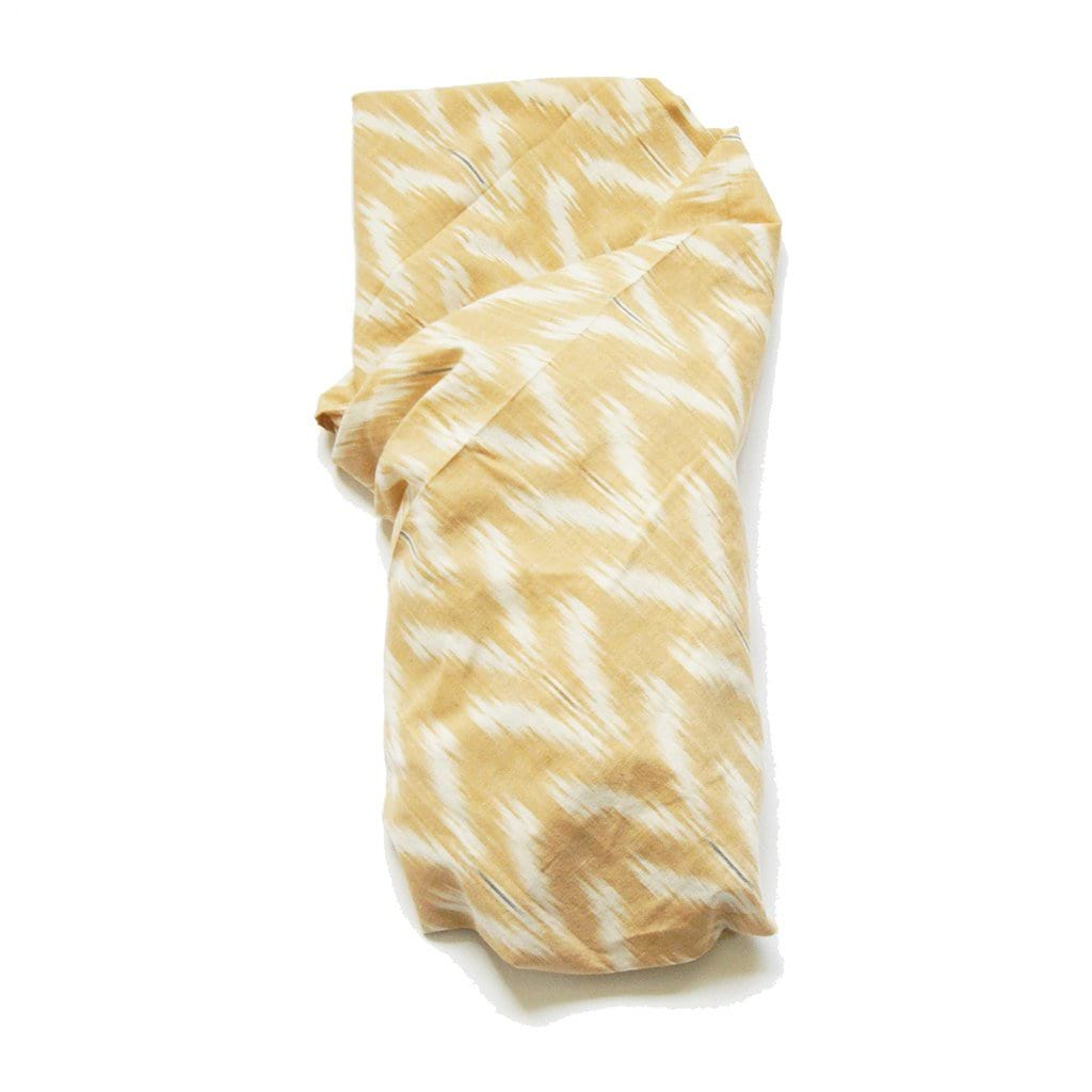 Peach Tulip Handwoven Cotton Ikat Baby Swaddle Wrap