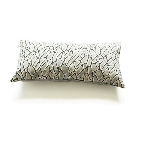 Grey Branch Pattern Lumbar Pillow Sham Hand Block Printed