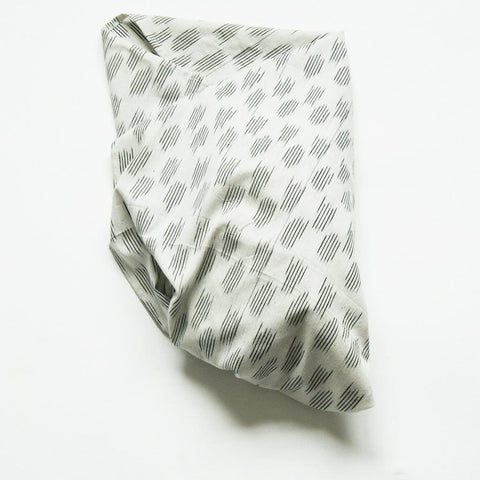 White Grey Dot Baby Swaddle Artisan Woven Ikat