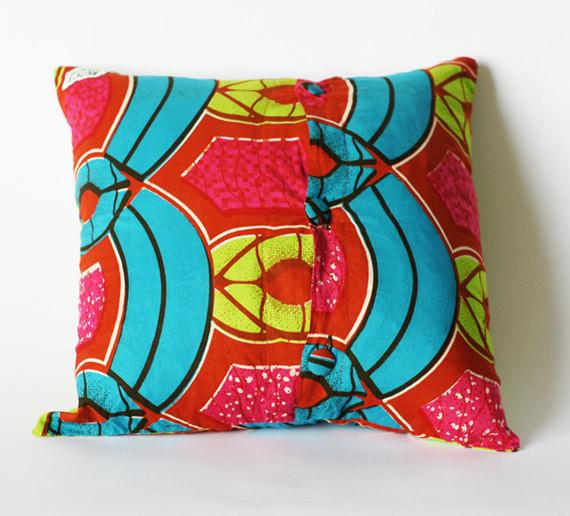 Hot Pink and Chartreuse Modern Geo Decorative Toss Pillow