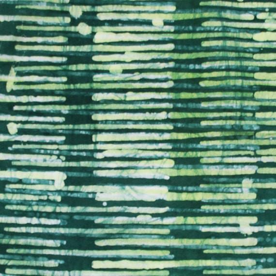 Green Cloth Napkin Batik Stripe 1 only