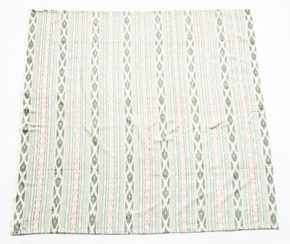 Aqua Pink Stripe Artisan Woven Cotton Ikat Baby Swaddle Wrap