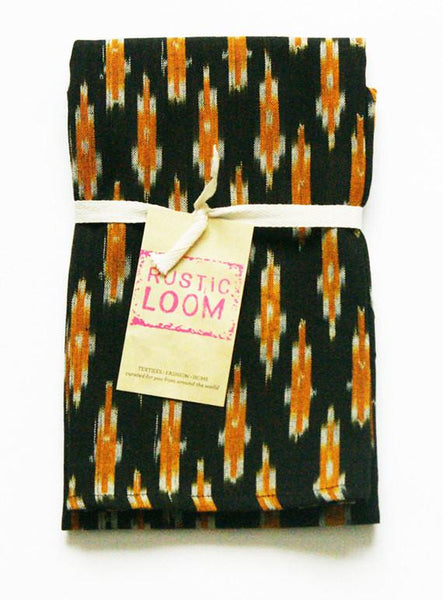 SALE: Black Gold Ikat Dash Tea Towel