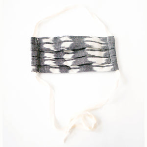 Grey Ikat Triangle Reusable Cloth Face Mask