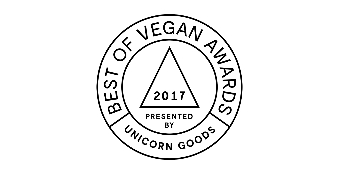 best of vegan awards 2017 unicorn goods rh unicorngoods com