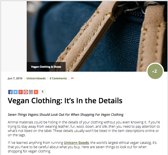 Vegan Clothing: It's In the Details