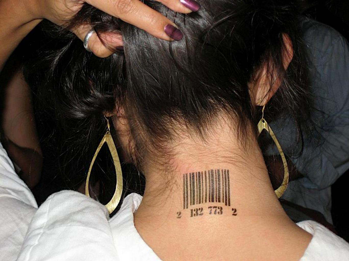 Human trafficking victims are sometimes branded like cattle. Source: The Independent