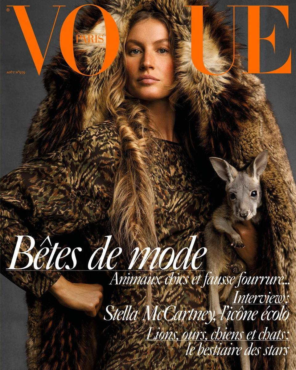 Vogue Paris August 2017 Issue, Gisele Bündchen Cover