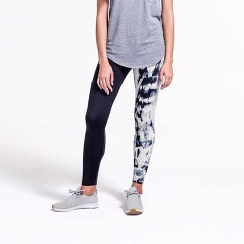 Adriana Legging in Cream and Black-Womens Leggings-Amanda Jay-Unicorn Goods