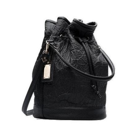 Alexandra K Piñatex Bucket Bag in Blackberry-Womens Purse-Alexandra K-Unicorn Goods