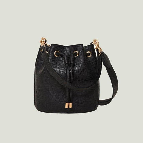 Angela Roi Madeline Mini Bucket Bag in Black-Womens Purse-Angela Roi-Unicorn Goods