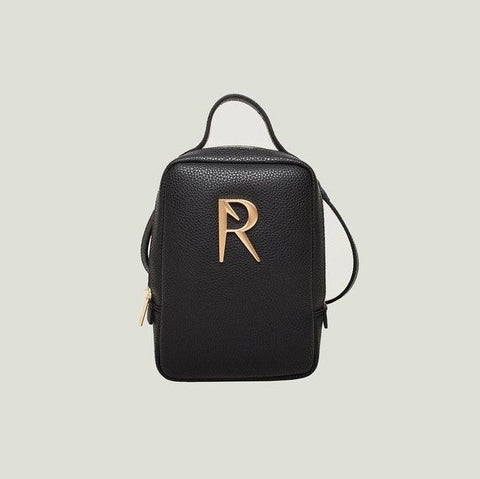 Angela Roi Mia Mini Backpack in Black with Logo-Womens Backpack-Angela Roi-Unicorn Goods
