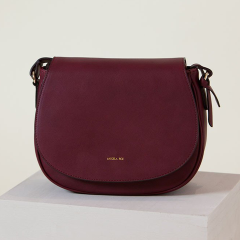 Angela Roi Morning Cross-body Bag in Bordeaux-Womens Satchel-Angela Roi-Unicorn Goods