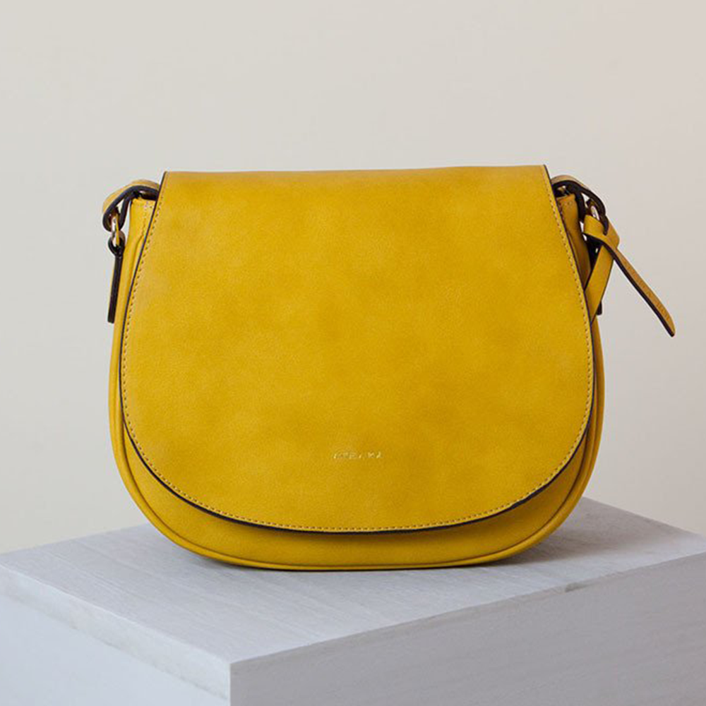 Angela Roi Morning Cross-body Bag in Mustard-Womens Satchel-Angela Roi-Unicorn Goods