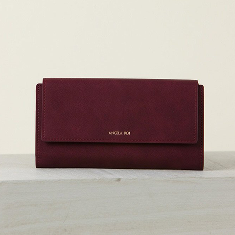 Angela Roi Olivia E Wallet in Bordeaux-Womens Wallet-Angela Roi-Unicorn Goods