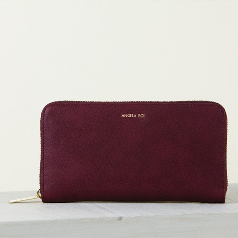 Angela Roi Olivia Z Wallet in Bordeaux-Womens Wallet-Angela Roi-Unicorn Goods