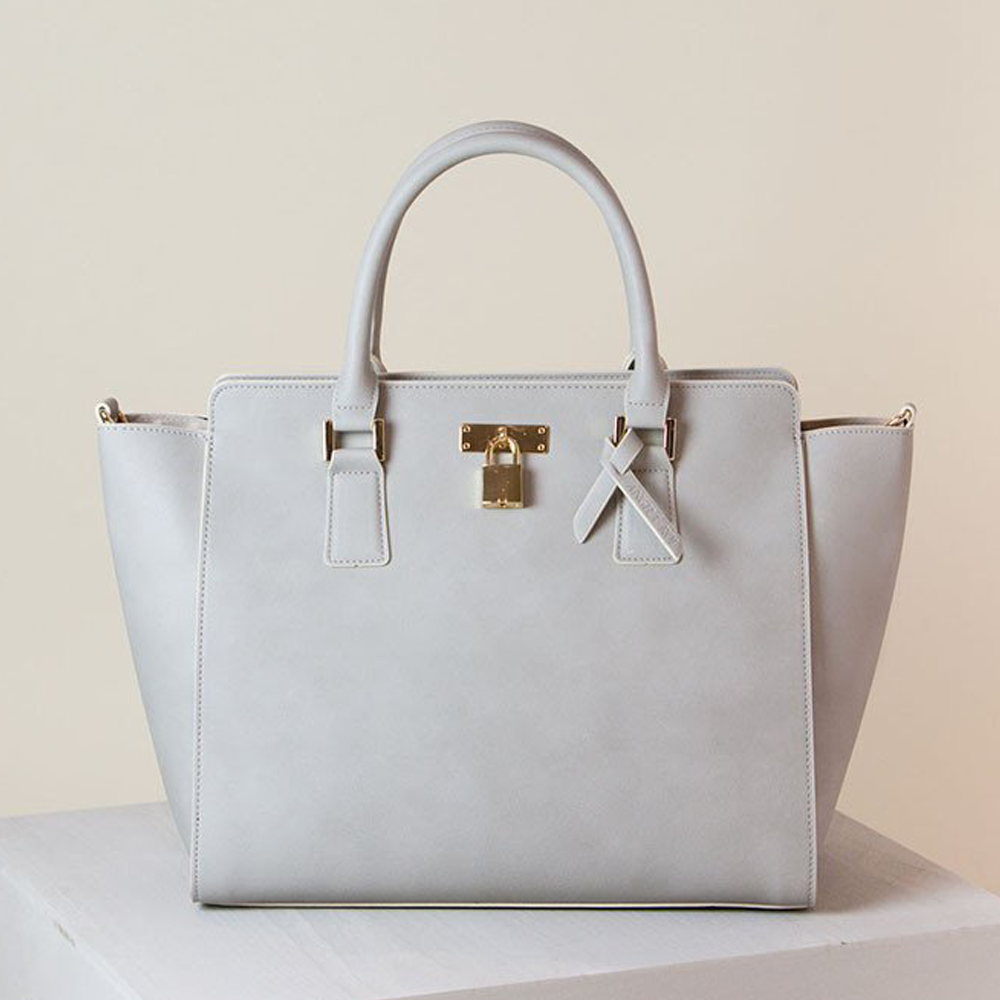 Angela Roi Sunday Sunday Tote II in Light Gray-Womens Purse-Angela Roi-Unicorn Goods