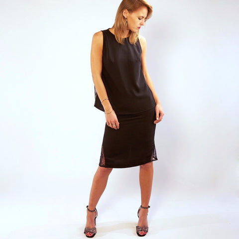 Annaborgia Nina Skirt in Black-Womens Skirt-Annaborgia-Unicorn Goods