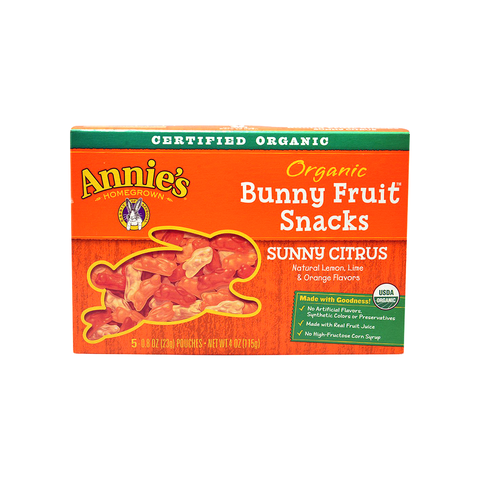 Annie's Homegrown Organic Bunny Fruit Snacks - Sunny Citrus-Candy-Food-Unicorn Goods