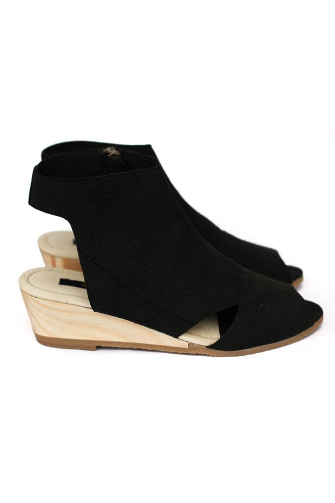 Bhava Lana Wedge Sandal in Black-Womens Wedges-Bead and Reel-Unicorn Goods