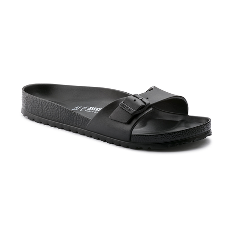 Birkenstock Madrid Slide Sandals in Black-Womens Sandals-Birkenstock-Unicorn Goods