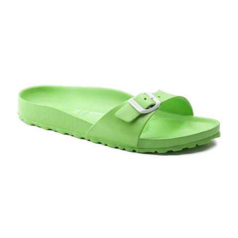 Birkenstock Madrid Slide Sandals in Neon Green-Womens Sandals-Birkenstock-Unicorn Goods